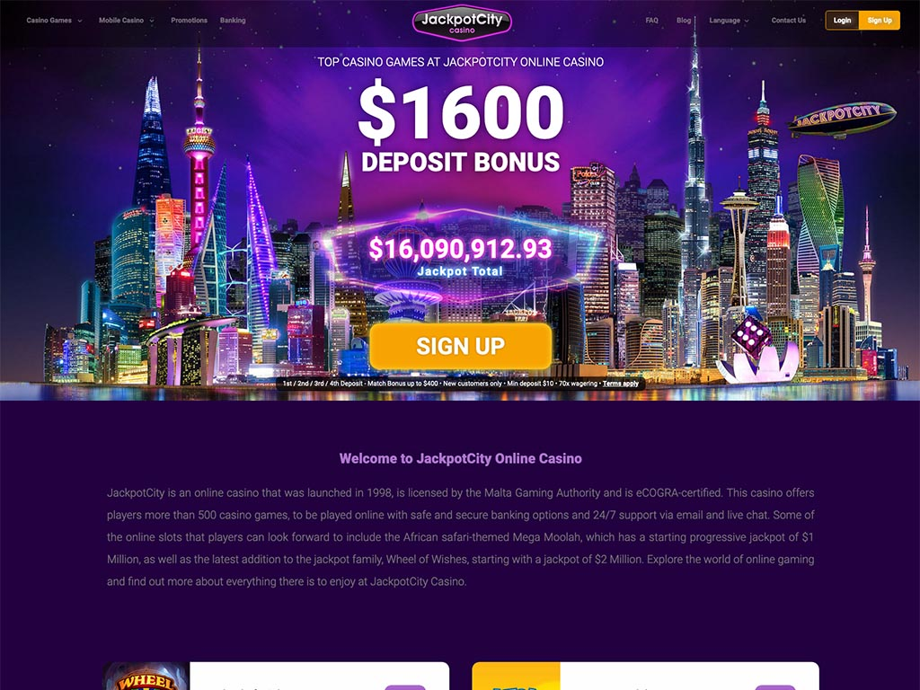 jackpot city casino player reviews